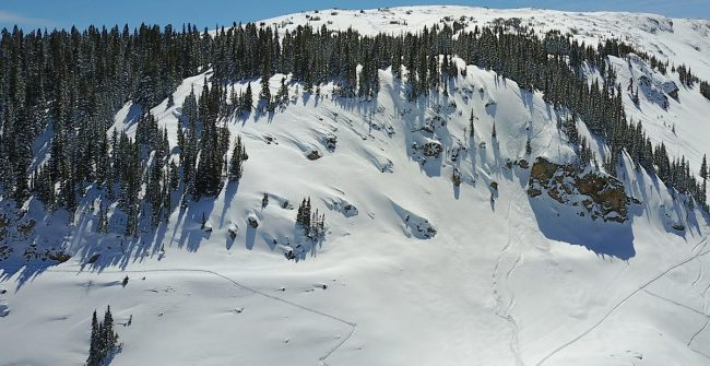Hourglass Cliffs Berthoud Pass