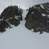 Peak One Northeast Couloir Closeup