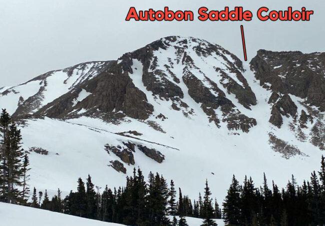 Autobon Saddle Couloir