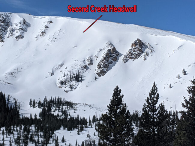 Second Creek Headwall
